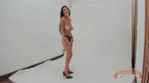 Julia Cataucha fez o seu primeiro ensaio no reality show