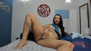 Oriental Vip peladinha mostrando o rabo no chat de sexo