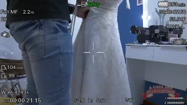 Gravação de cena com a noiva infiel Marcella Branquinha