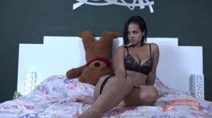 Grazy Moreno se masturbando: ela gozou gostoso demais