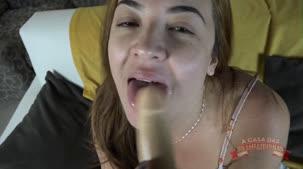 Tais Daeva sexo, a gostosa deu aula de sexo oral