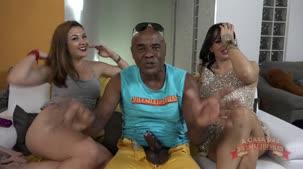 Angel lima e Kid Bengala na apresentação do raelity pornô