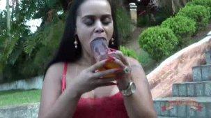 Suellen Victória atriz pornô fazendo o super desafio