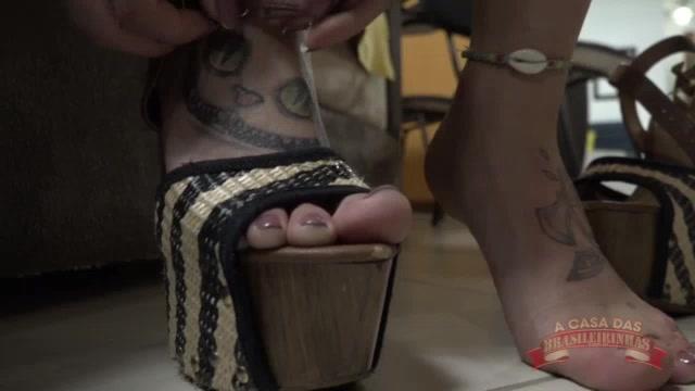 Fetiche por pés com Melody Antunes