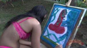 Lorena Vasconcellos nua na pintura erótica