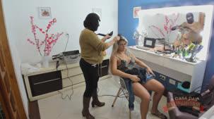 Nicole Araújo nos bastidores do filme pornô da Brasileirinhas