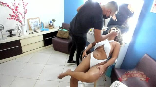 A Luna Oliveira foi produzida para gravação de mais uma cena