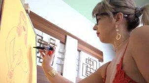 Emanuelly Weber gostosona nua na pintura erótica