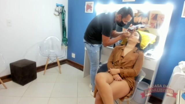 Maquiagem com a deliciosa Lina Nakamura
