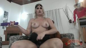 Sex Chat, Kamila Gomes de lingerie preta sexy ao vivo