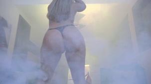 Hora do show erótico com a loira Bruna Safadinha