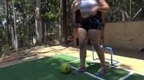 Sara Beaumont e Laura Matrix brincaram de gol a gol na Casa