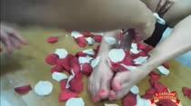 Sara Rosa faz massagem nos pés de Thiara Fox em vídeo pornô