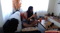 Juju Rangel atendeu aos pedidos no chat de sexo