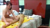 Massagem, pegação e sensualidade de madrugada na casa