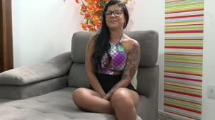 Amanda Souza gravou seu depoimento na Casa