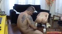 Bruna Ferraz grava cena de sexo com Alex Ferraz