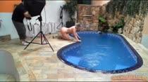 O Ensaio de Alexia foi na piscina, não perca!