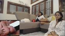 Manuella Pimenta e Paola Gurgel assistindo filme pornô