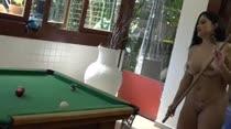 Elas jogaram sinuca peladinhas na Casa das Brasileirinhas