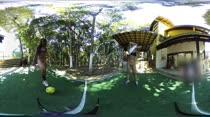 Marcella e Nayara jogaram futebol em um novo vídeo 360º