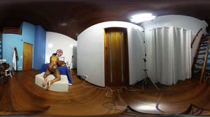 Bibi Griffo participou da atividade em 360º