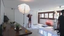 Joyce Jacomelli posa para fotos sensuais na Casa das Brasileirinhas