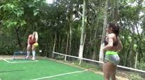 Byancca Tavares e Brenda Araújo jogaram uma peladinha