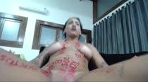 Allana Franco nua em chat de sexo
