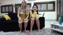 No chat da noite, Dani e Fernandinha capricharam na sacanagem