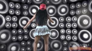 Alessandra Smith dançou funk sensualmente