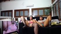 Amanda e Marcella assistiram a um filme pornô na Casa